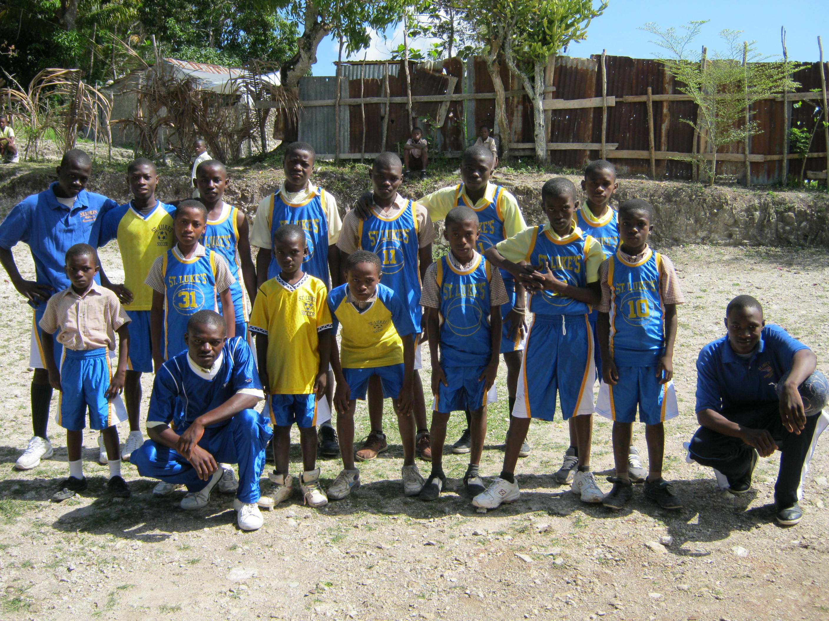 St. Luke Soccer team in Chardonnette