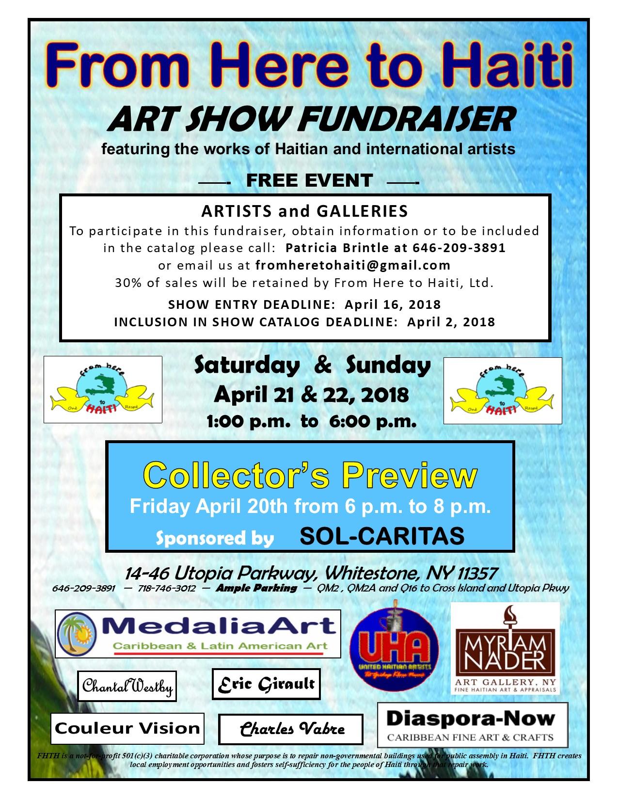 FHTH - Art show flier April2018 Webpage